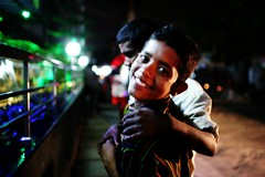 The brothers from Cox's Bazaar (N A Y E E M) Tags: street portrait smile night brothers bangladesh suman gec beggars chittagong haris