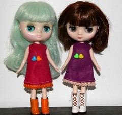 Middie Blythe felt dresses