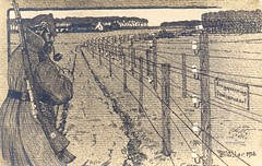 """Den Dodendraad"" / Grenzhochspannungshindernis / ""Wire of death"" (✠ drakegoodman ✠) Tags: soldier postcard rifle barbedwire worldwarone ww1 firstworldwar worldwar1 electricfence weltkrieg germanarmy pickelhaube germansoldier infantryman uberzug feldpost grenzhochspannungshindernis"