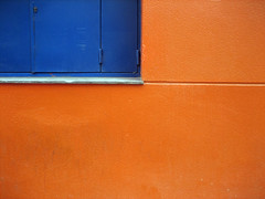 wall and window (maximorgana) Tags: blue orange window wall compo