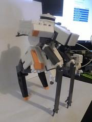Infantry Drone (uggggggggggggggggggggggggggggggggggggg) Tags: lego flimsy cyberpunk mech drone mechahub