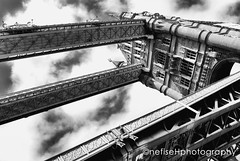 Tower Bridge ~ London (Nefise H) Tags: bridge blackandwhite london towerbridge photography riverthames centrallondon londonlandmark