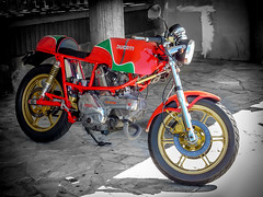 Ducati Pantah 600 SL Cafe Racer (alonso360) Tags: classic bike asturias retro moto motorcycle oviedo ducati caferacer motocicleta pantah clásica