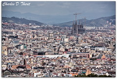 Barcelona and the Sagrada Famlia (ctofcsco) Tags: 28300mm 5d barcelona canon explore gaudi sagradafamlia spain superzoom singleimagehdr temple hdr mygearandme rememberthatmomentlevel1 afar distant famc2adlia fam-lia crane construction city buildings landscape cityscape scape landscapes ef28300mm f3556l is usm ef28300mmf3556lisusm telephoto lasagradafamilia sagradafamilia antonigaud antoni gaud classic eos5d eos5dclassic 5dclassic 5dmark1 5dmarki best wonderful perfect fabulous great photo pic picture image photograph