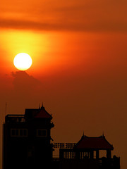 Sunset over Phnom Penh (GillWilson) Tags: