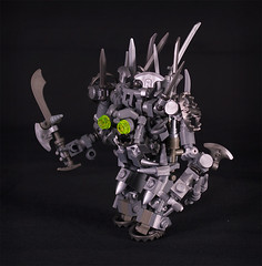 Iron Golem - side view (captainsmog) Tags: monster iron lego evil medieval fantasy minifig chem golem weapons heroic adventurer moc