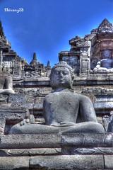 Borobudur Temple (Shivany28) Tags: travel holiday architecture canon indonesia eos jogja hdr borobudur candi photomatix tonemapping 60d canoneos60d shivany28