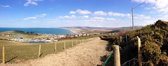 Borth, West Wales, Good Friday  29/03/2013 (DG Jones) Tags: panorama cliff home wales rural seaside westwales cliffs aberystwyth warmemorial ceredigion springtime borth ynyslas dyfed snowtippedcliffs