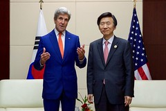 Secretary Kerry Addresses Reporters at the National Convention Center in Vientiane (U.S. Department of State) Tags: johnkerry laos vientiane yunbyungse asean associationofsoutheastasiannations