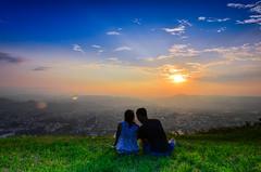 (DSC_0348) (nans0410(busy)) Tags: taiwan nantoucounty puli sunset lover sweettime mountain sky outdoors scenery cloud sunlight city