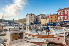 Fishermen Port of Cres Town (Tim Ertl) Tags: cres fishermen boats early houses luka morning port sun town