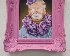 """Scott Scheidly - """"Ass Clown"""" (hashimotocontemporary) Tags: scottscheidly pinkseries donaldtrump trump print hashimotocontemporary"""