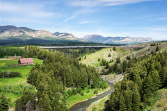 02.07.2016, Amtrak, East Glacier Park (Montana, USA) (miroslav.volek) Tags: amtrak east glacier park montana usa railway passenger car coach steel bridge