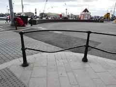 bent (dawn.v) Tags: poolequay britishseaside coast seaside poole dorset uk england summer august 2016 lumixlx100 railings bent