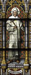 St Bernard (Lawrence OP) Tags: saints bernard doctorofthechurch saint stainedglass window cologne cathedral cistercian monk