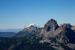 Cathedral Rock and Mount Rainier (mattsj1984) Tags: mountains landscapes mountrainier cascades cathedralrock