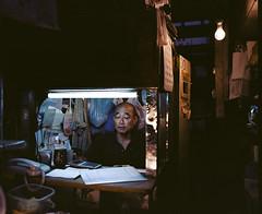 Untitled (Kyle Pozan) Tags: japan tokyo tsukiji fish market bazaar mamiya film shootfilm ishootfilm 120film 6x7 120 ektar ektar100 mamiya7 mamiya7ii neon