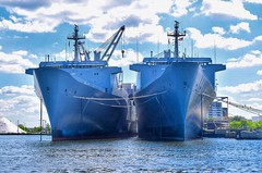 Twins... (megmcabee) Tags: boats baltimore maryland harbor harbour ships flag blue steel ropes
