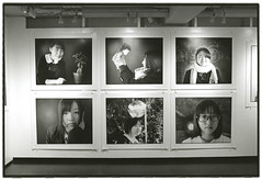 HIKARINOKO (Tamakorox) Tags: student highschoolstudent portrait art exhibition placem canonf1 kodaktmax iso400 japan japanese asia lights shadow pleasure graduate love         analoguecamera bw film fuji kodak hikarinoko