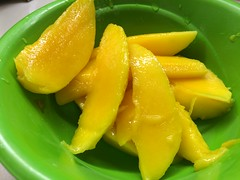Green Bowl of Mango Slices Food (stevendepolo) Tags: green bowl mango slices food