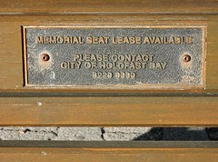 Bench Plaque Space Available (mikecogh) Tags: glenelg plaque bench available promotion