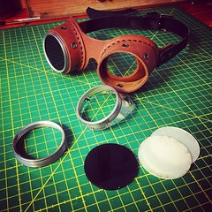 Change the lenses. #Cyberpunk #CyberGoth #postapocalyptic #postapocalypse #steampunk #goggles #leathermask #handmade #LARP #dieselpunk #leather #Darkart #costume #larping (tovlade) Tags: face mask cyberpunk cyber goth make up goggles girl punk postapocalyptic postapocalypse black steampunk leather hand made larp cybergoth dieselpunk plague doctor