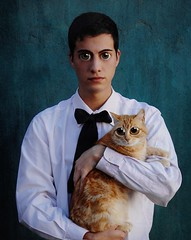 Boy with cat (Fer Siciliano) Tags: eyes bigeyes big cat boy old fantasy margarte keane pintura paint mdhkeane child