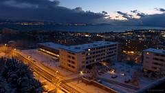 blue gold (anjoyplanet) Tags: blue winter sunset test snow colors lumix gold switzerland video vimeo view couleurs or hiver lac lausanne neige manual léman vue panoramique nacre panormaic 2013 fz150 blécherette irrisé 6février modemanuel nacrées