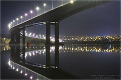 Foyle bridge 4 (Lucan Newland) Tags: city bridge water reflections river town long exposure culture londonderry parallel waterside derry foyle cityside
