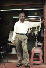 The Barber (clazirus) Tags: street shop 35mm hair nikon indian streetphotography barber malaysia streetphoto penang malaysian 2012 d60 unohu clazirus