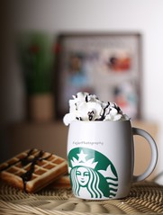 :          !* (Fajer Alajmi) Tags: cup coffee chocolate cream starbucks mug cocoa waffle