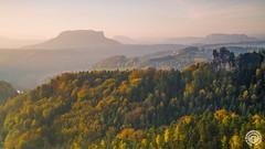 Herbstmorgen (Rico Richter) Tags: herbst landschaft lilienstein schsischeschweiz rathen