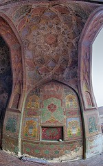 Magnificence - Wazir Khan Mosque (z) Tags: city pakistan art colors architecture work cityscape muslim islam main entrance mosque khan calligraphy fresco lahore masjid walled  wazir   widescape