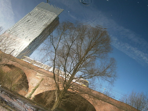 Upside down reflection-Beetham Tower