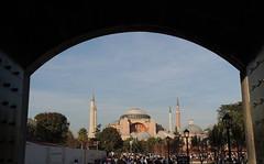Hagia Sophia (Anita363) Tags: church museum turkey arch basilica minaret istanbul mosque unescoworldheritagesite hagiasophia byzantine sultanahmet ayasofya geotagmanual