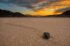 Romancing The Stone (howardignatius) Tags: sunset mountains rock clouds racetrack playa deathvalley february cameraclub 2013 slocc