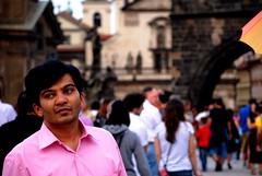 Pink Prague (_My Hero Is Gone_) Tags: travel pink summer man shirt amazing cool estate prague awesome praha praga viaggio