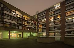 London - Golden Lane Estate (artenovaphotos) Tags: city uk england urban london architecture night canon shift barbican tilt hdr tse 17mm davidbank