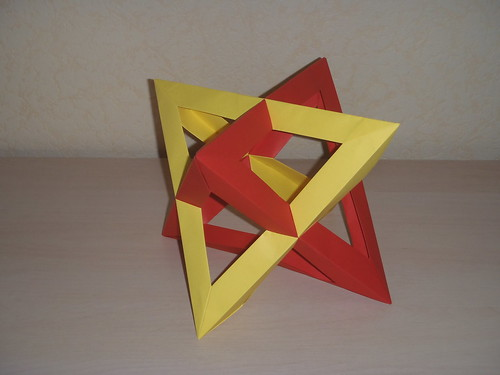 Two intersecting tetrahedras