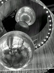 I love the nightlife (spikeybwoy - Chris Kemp) Tags: reflection disco sparkle discoball upward flickrandroidapp:filter=nyc