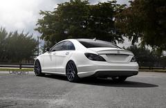 Matte White Mercedes CLS550 on Velgen Wheels VMB5 (VelgenWheels) Tags: uk hk usa white cars car sedan germany mercedes asia russia performance custom lowered rolling v8 matte exhaust amg 2012 slammed velgen mercedesamg fitment 2013 cls550 mbworld amgv8 velgenwheels vmb5