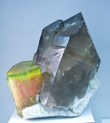 Smoky Quartz and Tourmaline (Jake Slagle) Tags: mineral specimen afghanis gemmineral nuristanprovince