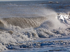 Ocean Spray (JacquiTnature) Tags: ocean nature water waves spray splash saltwater chincoteague breakingwaves jacquit
