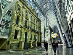 Allen Lambert Galleria (TownieBrit-JiverGirl) Tags: toronto history beautiful architecture nikon allen cathedral crystal ceiling historic financialdistrict architect vaulted lambert atrium galleria starburst baystreet dominion downtowntoronto rbc friendswithyou brookfieldplace l810 nikoncoolpixl810 nickyjameson