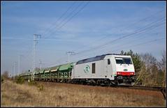 ITL 285 105 in Berlin Wuhlheide (Tegeler) Tags: railroad berlin train germany deutschland diesel railway zug trainspotting wuhlheide trein freighttrain cargotrain itleisenbahngmbh baureihe285 gterzug classtraxxf140de