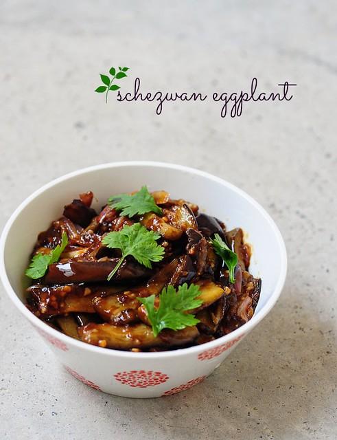 schezwan eggplant-sichuan eggplant-szechuan eggplant recipe