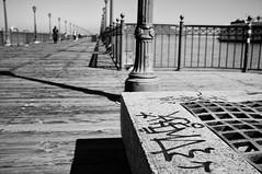 Graffiti (Nick Lambert!) Tags: sanfrancisco street blackandwhite bw pier fuji streetscape nicklambert graffitipier fujix100 fujinonasphericallens