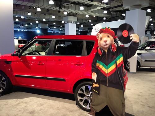 Kia Soul Hip Hop Hamster At The Ny Auto Show Nyias A Photo On