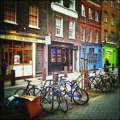 Bikes in Neal Street