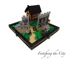 Fortifying the City (Grant W.) Tags: castle wall lego tudor lcc localcontest classiccastle lenfald